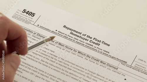 An Anonymous Person Reads The Irs Form 5405 Which Is Used For The
