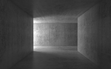 3d empty concrete hall interior background