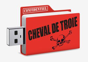 virus - cyber attaque - internet - informatique -sécurité - clé USB