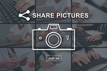 Concept of pictures sharing