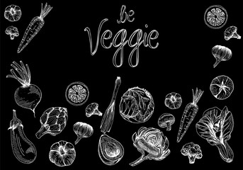 Be veggie. Vegetables illustration