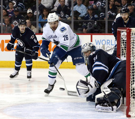 NHL: Vancouver Canucks at Winnipeg Jets