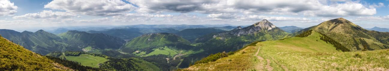 Foto op Plexiglas Heuvel Amazing spring hilly landscape - slovak Little Fatra hills
