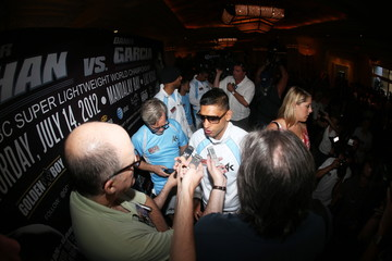 Amir Khan arrives in Las Vegas ahead of his clash with Danny Garcia