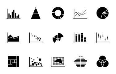 WebDiagramme Icons - Schwarz