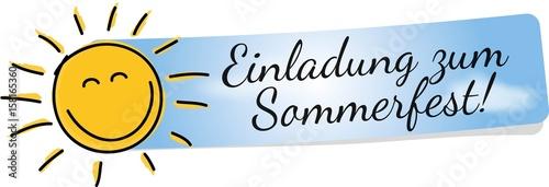"""einladung zum sommerfest"""" stock image and royalty-free vector, Einladung"""
