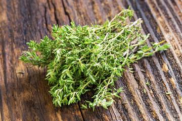 Fresh thyme herb