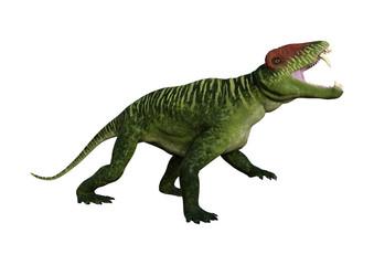 3D Rendering Dinosaur Doliosauriscus on White