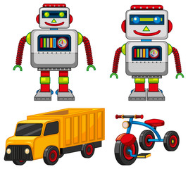 Robot and vehicle toys