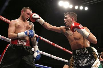 Craig Evans (R) in action against Jacek Wylezol
