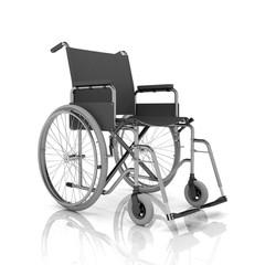 Rollstuhl auf weißem Hintergrund