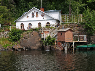 Water intaking construction of the Valaam monastery