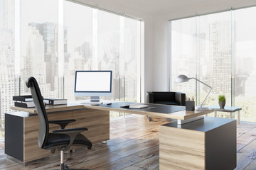 CEO table in his office