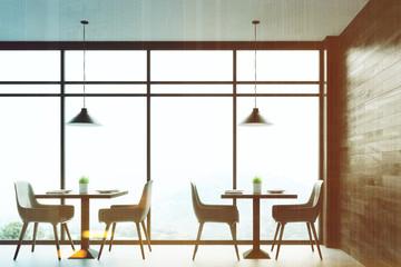 Panoramic cafe, dark toned