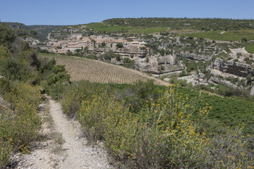 Countryroad to village of Minerve France