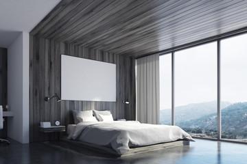Eco bedroom with poster, corner