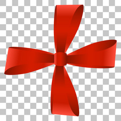 Vector image of a bow on a transparent background.