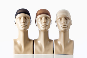 Three Mannequin Heads for Wigmaking