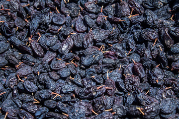 Dried grapes as a background