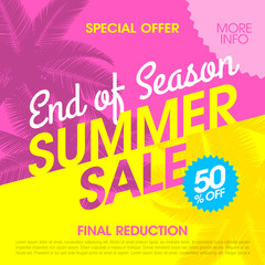 End of Season Summer Sale banner design template