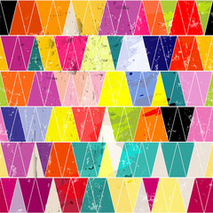 seamless pattern background, with triangles, strokes and splashes
