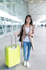 Woman go travel