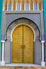 Decorative door in Morocco