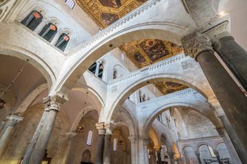 Saint Nicola Basilica in Bari, Apulia, southern Italy. Wall mural