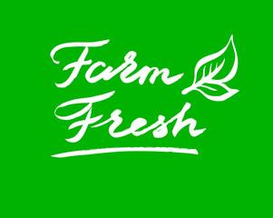 Hand drawn vector graphic Logo. Farm fresh theme.