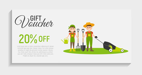 Gift Voucher Template Background. Vector Iillustration