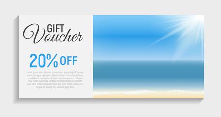 Gift Voucher Template Background. Vector Iillustration