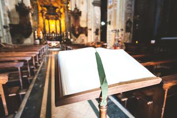 blank book church