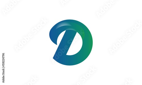 cool letter d logo template stock image and royalty free vector
