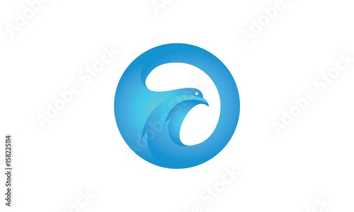 awesome dove cool logo template stock image and royalty free vector