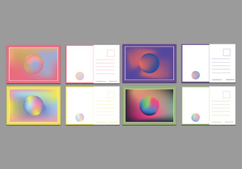 Abstract Postcard Layouts