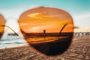 Sunset through Amber Glasses