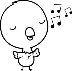 Cartoon Baby Parrot Singing