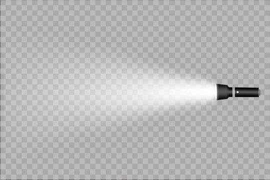 flashlight on a transparent background