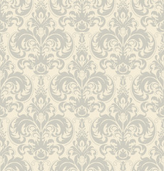 Seamless vintage floral wallpaper pattern. Wallpaper pattern. Vector image.