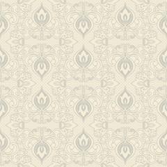 Seamless vintage floral wallpaper pattern. Wallpaper pattern. Vector image.