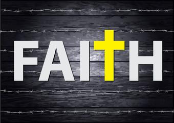Faith lettering