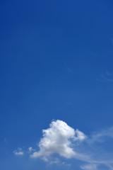 青空と雲(青空にキャッチコピースペース)
