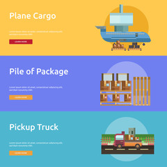 Cargo and Delivery Conceptual Banner Design