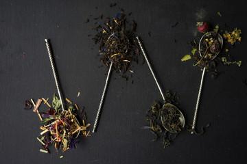 Floral tea concept
