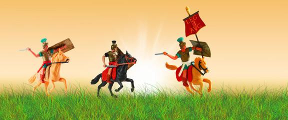 Angriff der alten Rom Legion _  Alte Römer Figuren