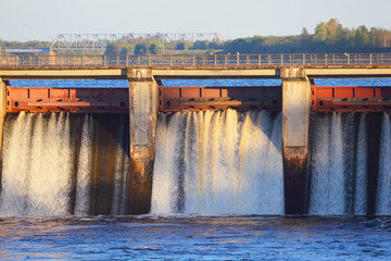Poster Barrage Dam of hydroelectric power.