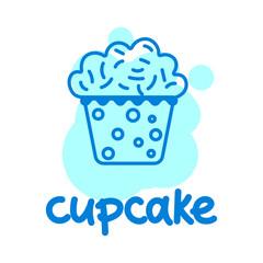 Simple cupcake color draw.
