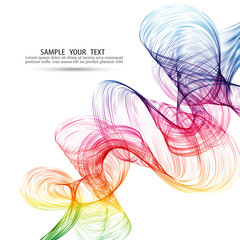 Vector Abstract color wave background Rainbow wave.