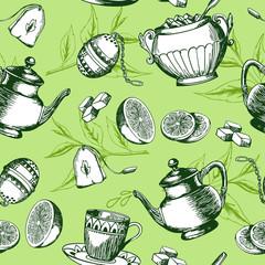 Green tea pattern