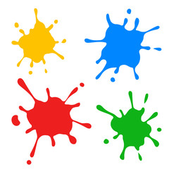 Color spot. Vector. Isolated.